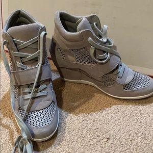 Wedge sneaker - grey